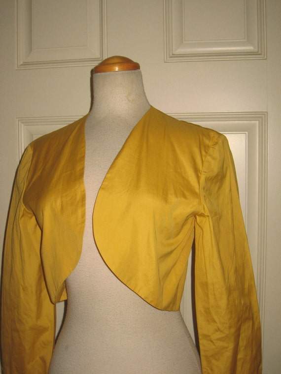 40s 50s  YELLOW  Bolero Top / Jacket 1950s PLAY CLOTHES