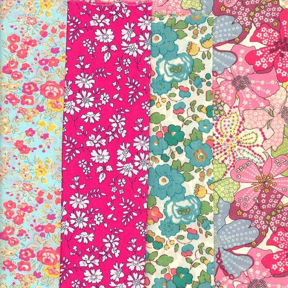 Lovely Selection of Fabric Scraps from Liberty of London FE279
