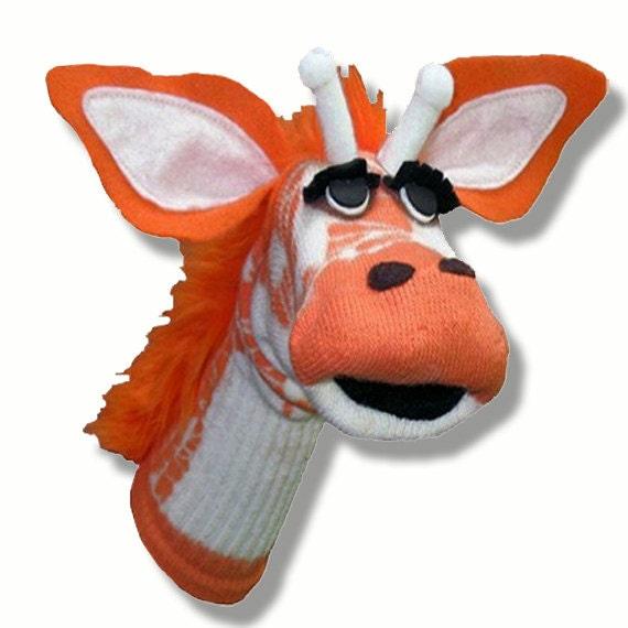 Handmade Toy Giraffe Sock Puppet