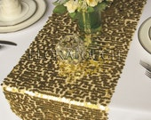 Gold Sparkling Sequin Table Runner Wedding Table Runner - More colors available also