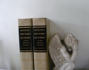 Vintage Two Volume Webster's Dictionary 1950s