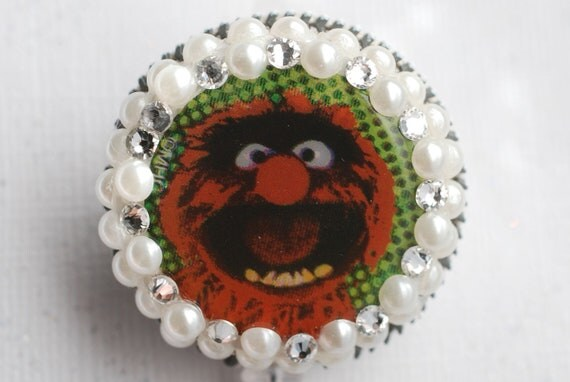 The Muppets Animal Vintage Zipper ID Badge Reel