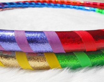 ON SaLE Custom Travel Hula Hoop 'The Double RAINBOW WARRIOR' - Pro Hoops Hand-made since '07!
