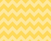 WINTER SALE - Medium Chevron Stripe in Tonal Yellow - sku C380 51 - 1 Yard - by Riley Blake Designs