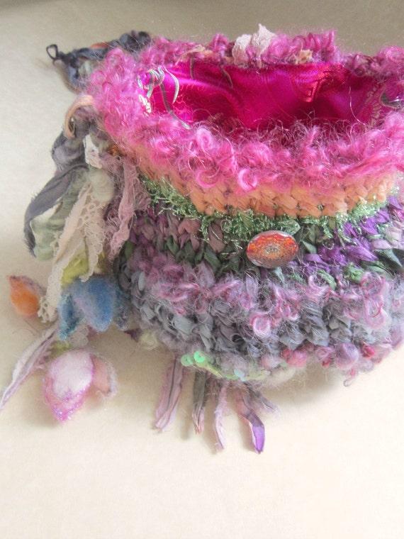 custom listing for kristen faerie - handknit rustic elven forest enchanted faerie bag
