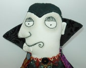 Count Dracula Halloween whimsical art doll