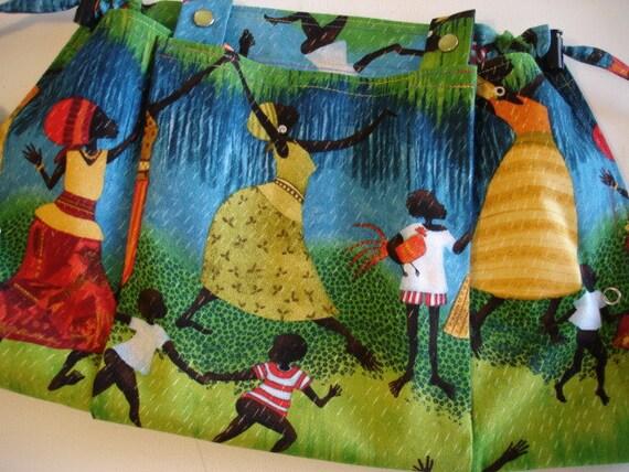 KNITTING BAG APRON - Made To Order Julia Cairns African Women Rare Fabric
