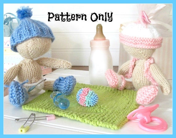 Itty Bitty Babies 5- 7 inch Doll, Blanket and Clothes  Pattern   Knitted