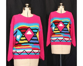 Vintage 80s Wish It Was Sunday Sweater