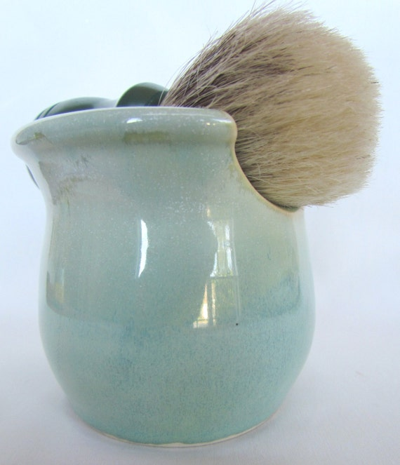 Shaving Mug with Soap Set Seafoam Green