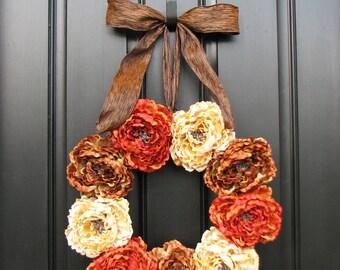 Autumn Decor, Front Door Wreaths, Holidays, Harvest, Summer Fall Decor, Fall Flowers, Summer Flowers