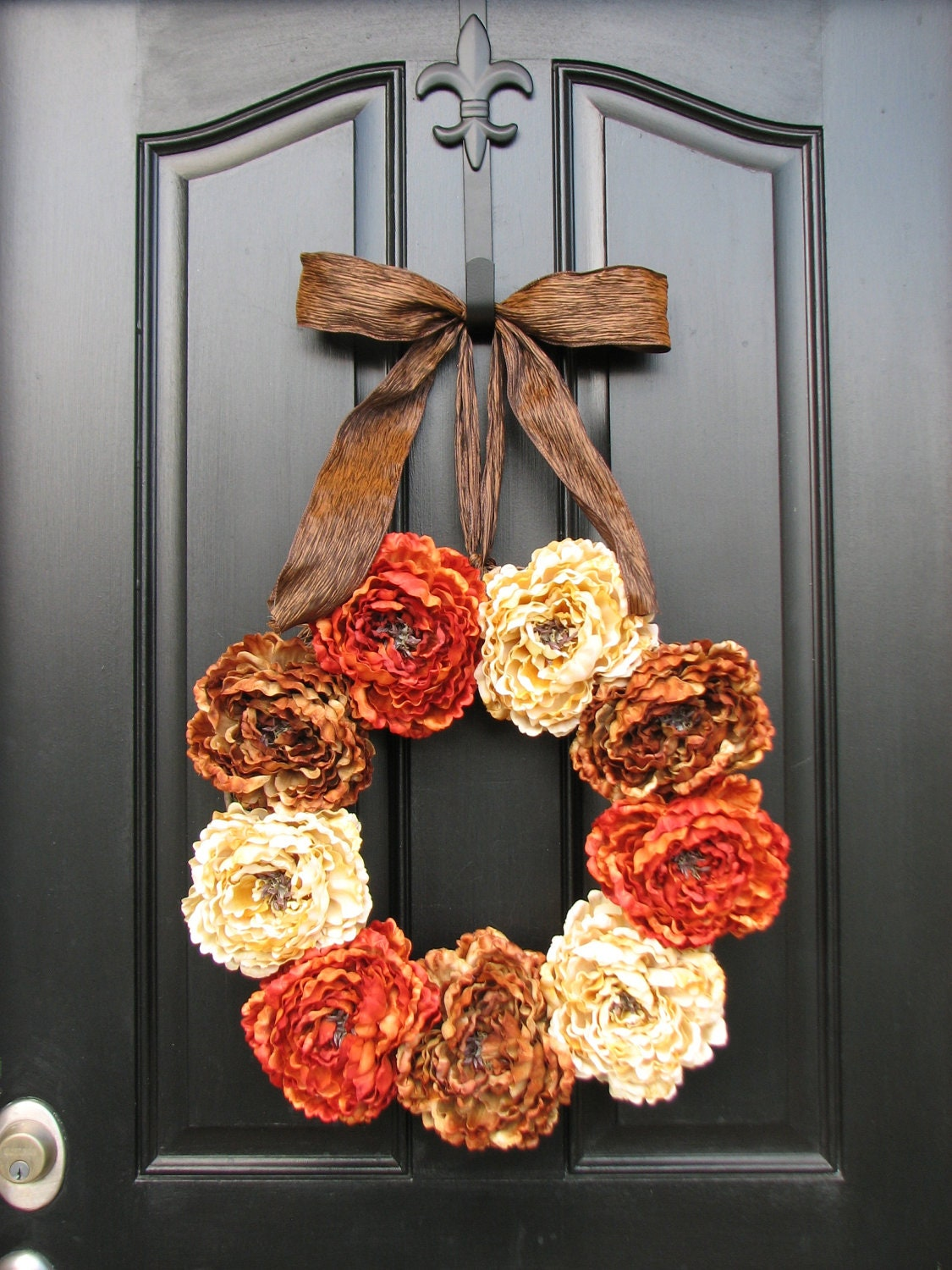 Autumn decor front door wreaths holidays harvest summer for 3 wreath door decoration
