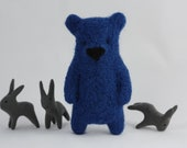 A blue bear brooch - ememem