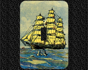 1857 American Clipper Ship Switch Plate Covers Toggle/Rocker/Outlet