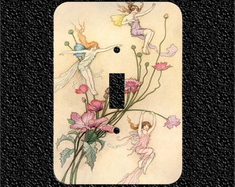 A Fairy Revel Single Toggle or Rocker or Outlet Light Switch Plate Covers