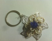 Seashell Floral Key Chain / Pendant