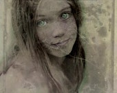 The Light in Me - 8 X 8 fine-art textured photographic collage print