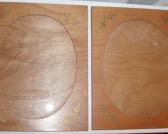 Pair of Wooden Portrait Frames