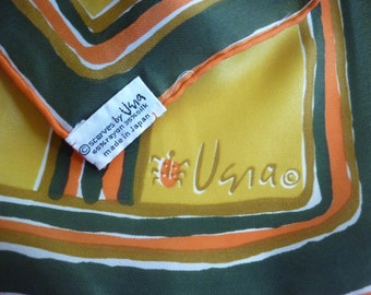 60s VERA Scarf in Spicy Colors  Gourd Stripe