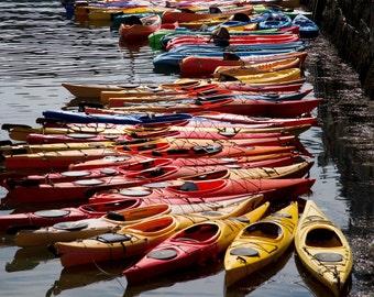 Colorful Kayaks- Photograph