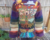 SALE 75 dollars off OOAK Weather Report Suite into Let it Grow Ultimate Tour Hoody Gypsy Jacket Size Medium Ready to Ship