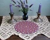 Healing Lavender Mandala, Crystal Grid