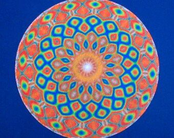 Orange Sunshine Mandala Altar Cloth