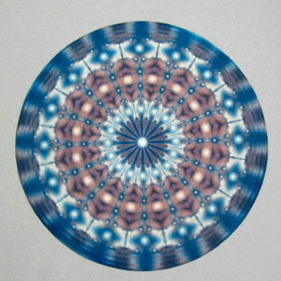 Blue Focus Mandala Altar Cloth