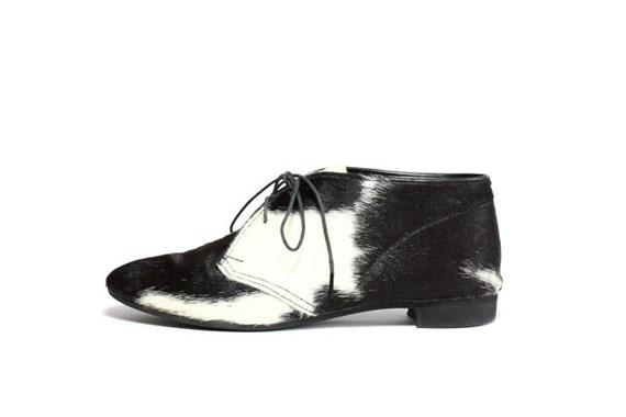 VTG Pony Hair Chukka Ankle Boots 7