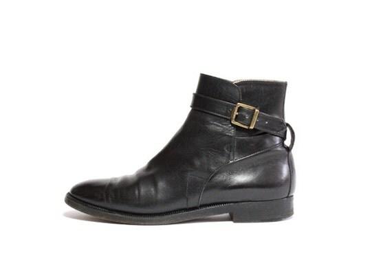 VTG Ralph Lauren Leather Harness Chelsea Riding Ankle Boot 7