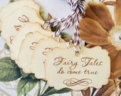 Gift Tags Wedding Wish Tree Vintage Style Fairy Tales Do Come True Princess Party Favor Treat Bag Tag TL004