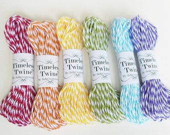 Sale - Rainbow Bakers Twine Party Pack by Timeless Twine - 60 yds