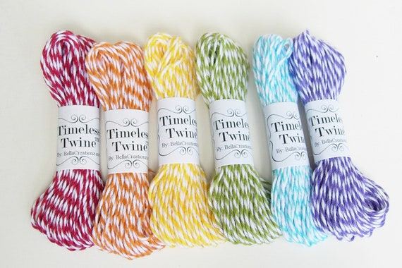 Rainbow Bakers Twine Party Pack by Timeless Twine - 60 yds