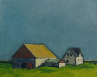 "Farmland - Signed Print - 8""x 8"""