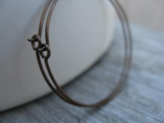 Reserved chocolate niobium earrings. brown hoop earrings. modern earrings. hypoallergenic earrings. splurge