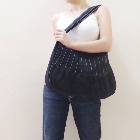 Back To School SALE - 40% OFF Kangaroo in Black / Market Bag / Sling bag / Hobo / Purses  / Hip bag / Crossbody / Women / For her