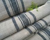 antique handloomed stairrunner FADED INDIGO GREY rug bathmat 19.67y