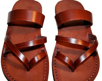 Brown Moon Leather Sandals for Men & Women