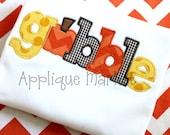 Machine Embroidery Design Applique Gobble INSTANT DOWNLOAD