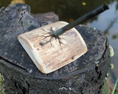Natural rustic wood pen holder with branch design