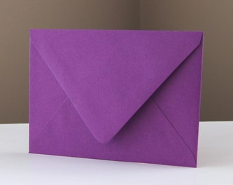 "10 Beet (Purple) RSVP Envelopes . 4Bar Envelopes . 3.625"" x 5.125"""