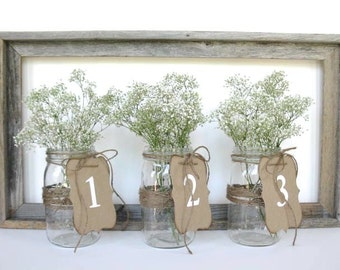 Wedding Decor - white wedding table numbers - 2.00 per number -  pick other colors - wedding ceremony - vintage wedding