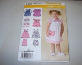 New Simplicity Girl's Dress  Pattern, 2461  (Free US Shipping)
