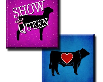Show Animals - 1 inch squares - Digital collage sheet