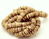 Natural Coco wood Beads - Eco Friendly Donuts Rondelle Disk Beads 8mm - 100pcs  (PC214C)