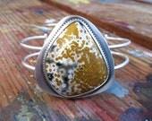 Ocean Jasper Silver Cuff Bracelet