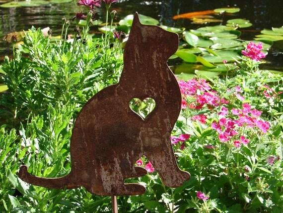pet cat memorial garden stake yard lawn kitty feline