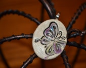 RESERVED - BUTTERFLY clay necklace