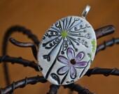 PETAL LOVE clay necklace