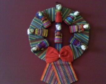 Worry doll   Wreath  folk art